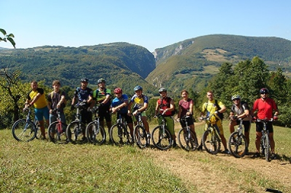 Trekking and mountain biking